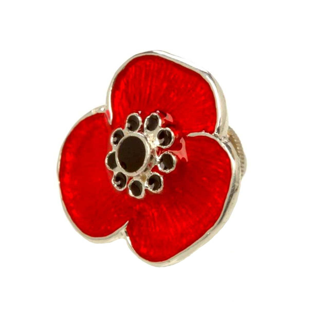 Sterling Silver Remembrance Poppy Pin